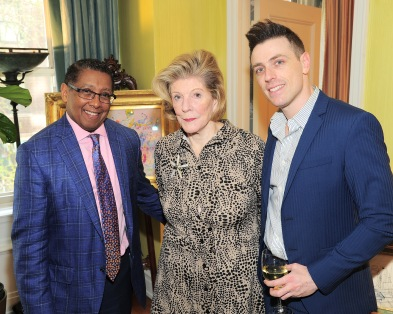 NEW YORK, NY - APRIL 17: Bill Wright, Agnes Gund and Elad Kabilio attend Amy Fine Collins and Joanna Fisher Host Luncheon For Tabula Rasa Dance Theater at Private Residence on April 17, 2019 in New York. (Photo by Owen Hoffmann/PMC)