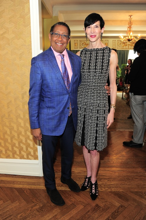 NEW YORK, NY - APRIL 17: Bill Wright and Amy Fine Collins attend Amy Fine Collins and Joanna Fisher Host Luncheon For Tabula Rasa Dance Theater at Private Residence on April 17, 2019 in New York. (Photo by Owen Hoffmann/PMC)