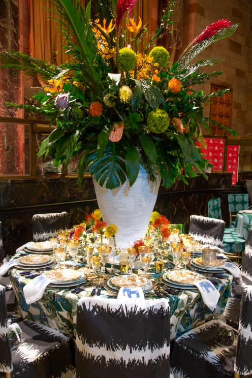 Designers Zandy Gammons and Liles Dunnigan (co-owners of The Warehouse 1924 in Raleigh, NC) incorporated a bold and futuristic tropical French theme to embody this year's gala them: The Future Starts Now.