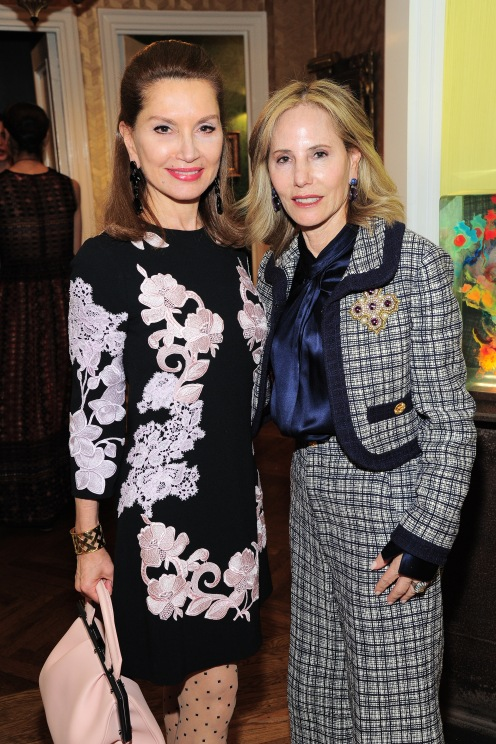 NEW YORK, NY - APRIL 17: Jean Shafiroff and Lori Reinsberg attend Amy Fine Collins and Joanna Fisher Host Luncheon For Tabula Rasa Dance Theater at Private Residence on April 17, 2019 in New York. (Photo by Owen Hoffmann/PMC)
