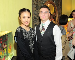 NEW YORK, NY - APRIL 17: Nriko Naraoka and Simon Kazantsev attend Amy Fine Collins and Joanna Fisher Host Luncheon For Tabula Rasa Dance Theater at Private Residence on April 17, 2019 in New York. (Photo by Owen Hoffmann/PMC)