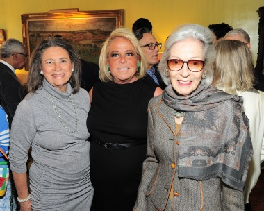 NEW YORK, NY - APRIL 17: Sharon Hoge, Joanna Fisher and Barbara Tober attend Amy Fine Collins and Joanna Fisher Host Luncheon For Tabula Rasa Dance Theater at Private Residence on April 17, 2019 in New York. (Photo by Owen Hoffmann/PMC)