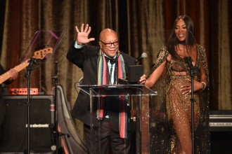 -Beverly Hills, CA - 05/19/2019 American Icon Awards Gala Benefit Ceremony -PICTURED: Quincy Jones, Naomi Campbell -PHOTO by: Michael Simon/startraksphoto.com