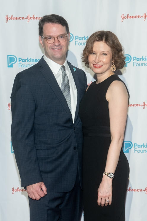 John Lehr and Amy Demaria attend Parkinson's Foundation New York Gala at Cipriani 25 Broadway on May 7, 2019 in New York. (Photo by Michael Ostuni/PMC)