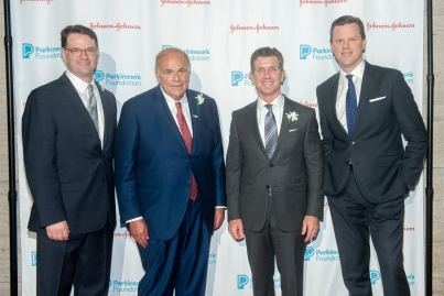John Lehr, Edward Rendell, Alex Gorsky and Willie Geist attend Parkinson's Foundation New York Gala at Cipriani 25 Broadway on May 7, 2019 in New York. (Photo by Michael Ostuni/PMC)