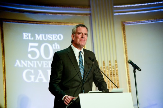 NEW YORK, NY - MAY 2: Bill de Blasio attends El Museo del Barrio's 50th Anniversary Gala at The Plaza on May 2, 2019 in New York. (Photo by Aurora Rose/PMC)