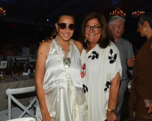 Donna Karan and Fern Mallis attend LongHouse Reserve 2019 Summer Benefit Honoring Julian Schnabel And Donna Karan at LongHouse Reserve on July 20, 2019 in East Hampton, NY.