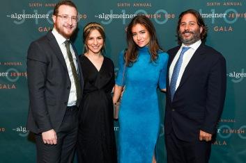 Dovid Efune, Mushka Efune, Victoria Heller and Mike Heller