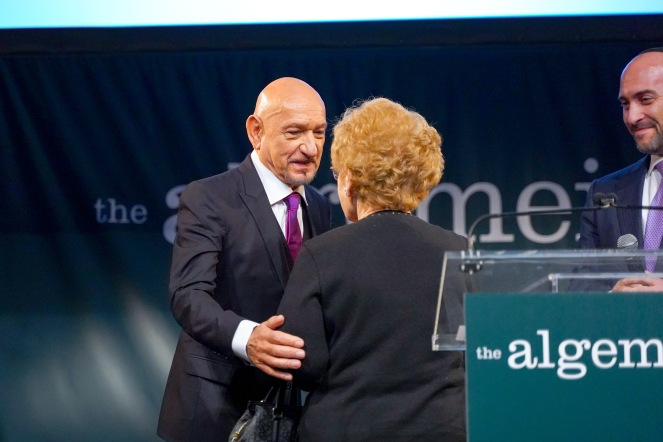 Sir Ben Kingsley and Halina Silber
