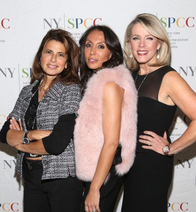 NEW YORK, NY - NOVEMBER 20: Kalliope Karella, Vicky Cornell and Deborah Norville attend The NYSPCC's Seventh Annual Food & Wine Gala at The Metropolitan Club on November 20, 2019 in New York. (Photo by Sylvain Gaboury/PMC)