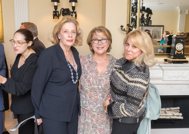 "Kathy Irwin, Odile De Schiétère-Longchampt, Iris Schwartz at French Heritage Society ""The Seine"" Book Party at Private residence in New York on 10/28/2019 (photo by Annie Watt Agency / Sipa USA)"