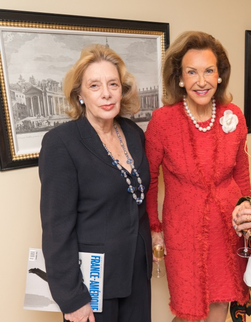 "Kathy Irwin, Mai Hallingby, Marli Hinckley at French Heritage Society ""The Seine"" Book Party at Private residence in New York on 10/28/2019 (photo by Annie Watt Agency / Sipa USA)"