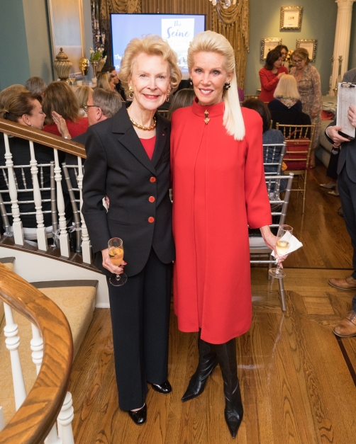 "Elizabeth Stribling, CeCe Black at French Heritage Society ""The Seine"" Book Party at Private residence in New York on 10/28/2019 (photo by Annie Watt Agency / Sipa USA)"