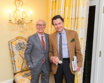 "Guy Robinson, Paul Stuart Rankin at French Heritage Society ""The Seine"" Book Party at Private residence in New York on 10/28/2019 (photo by Annie Watt Agency / Sipa USA)"