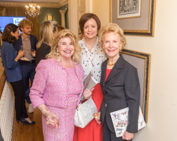 "Judy McLaren, Jennifer Herlein, Elizabeth Stribling at French Heritage Society ""The Seine"" Book Party at Private residence in New York on 10/28/2019 (photo by Annie Watt Agency / Sipa USA)"