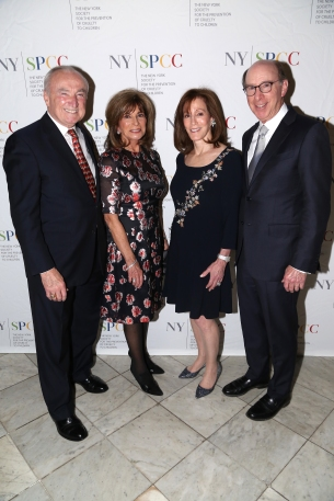 NEW YORK, NY - NOVEMBER 20: William Bratton, Rikki Klieman, Susan Winter and Ben Winter attend The NYSPCC's Seventh Annual Food & Wine Gala at The Metropolitan Club on November 20, 2019 in New York. (Photo by Sylvain Gaboury/PMC/PMC)