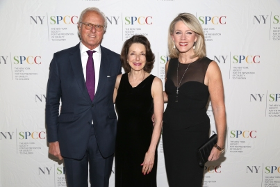 NEW YORK, NY - NOVEMBER 20: Karl Wellner, Dr. Mary Pulido and Deborah Norville attend The NYSPCC's Seventh Annual Food & Wine Gala at The Metropolitan Club on November 20, 2019 in New York. (Photo by Sylvain Gaboury/PMC/PMC)